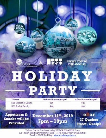 SES Holiday Party Poster