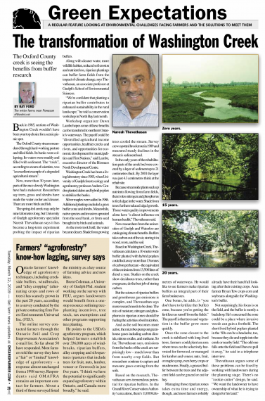 A picture of the article in Ontario Farmer