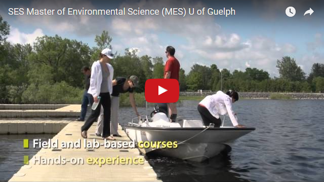 YouTube Video - SES Master of Environmental Science (MES) U of Guelph - Field and lab based courses, Hands on experience